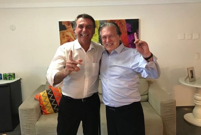 Jair Bolsonaro e Luciano Bivar, presidente nacional do PSL