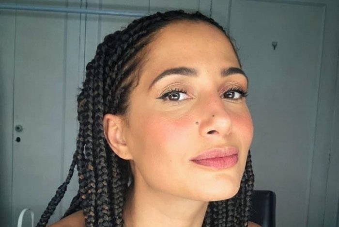 Camila Pitanga: trançada