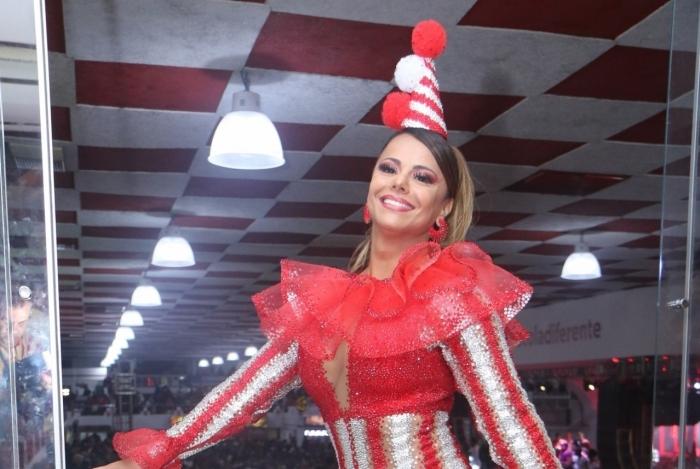A Rainha de Bateria Viviane Araújo na Escolha do Samba do Salgueiro para o Carnaval 2020