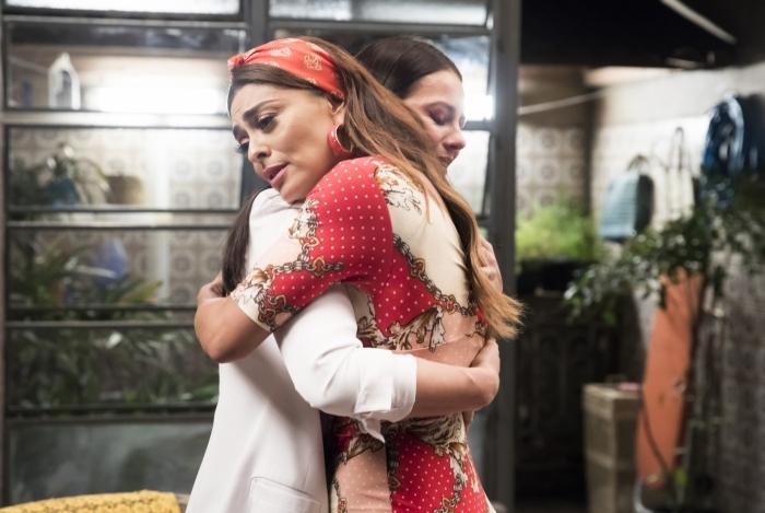 Vivi (Paolla Oliveira) descobre que é sobrinha de Maria (Juliana Paes), em 'A Dona do Pedaço'