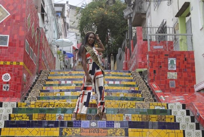 Rio,30/10/2019 -LAPA-Concurso de Beleza Miss Trans Brasil , Pontos Turisticos do Rio.Na foto, Eloa Rodrigues, Miss Beleza Trans Rio de Janeiro .Foto: Cléber Mendes/Agência O Dia