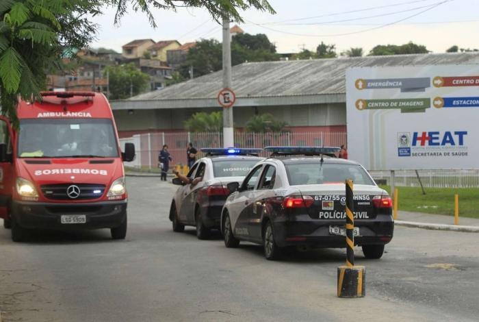 Sargento foi socorrido no Hospital Estadual Alberto Torres