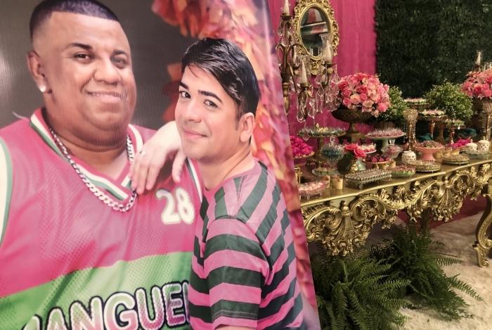 Thiago e Tom realizaram sonho de se casar onde se conheceram, na quadra da Mangueira
