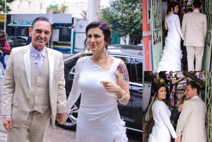 Casamento do cantor Paulo Miklos e Renata Galvão