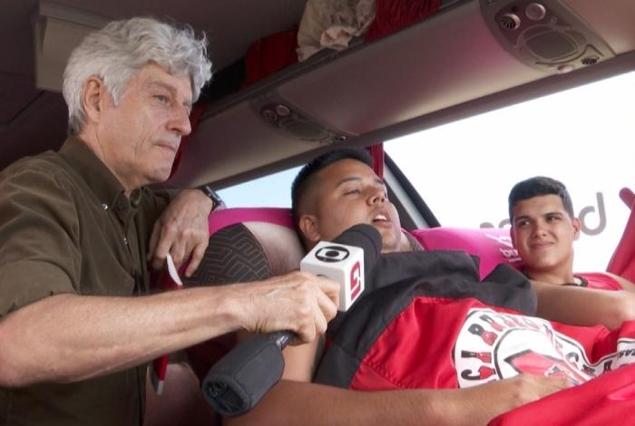 Caco Barcellos acompanha torcedores do Flamengo rumo a Lima, cidade que recebeu a final da Libertadores