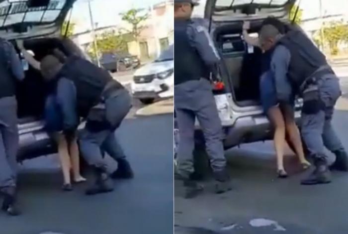 Vídeo da abordagem foi divulgado nas redes sociais
