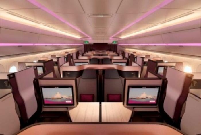 Imagem do avião que levará o Flamengo