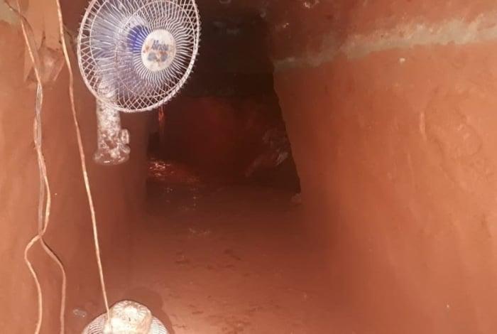 A polícia do Mato Grosso do Sul descobriu um túnel de 60 metros em Campo Grande