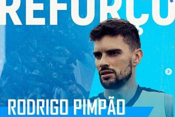 Rodrigo Pimpão foi anunciado pelo CSA