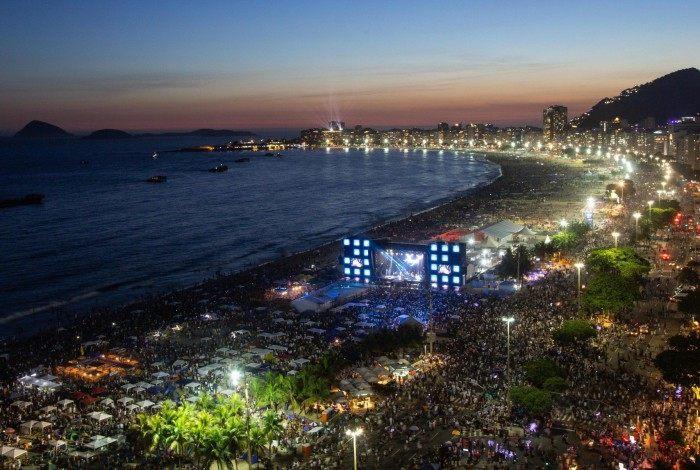 Rio não terá mais eventos particulares nas orlas das praias durante o Ano Novo