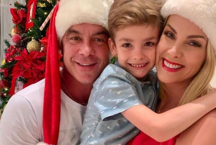 Alexandre Correa, Ana Hickmann e o filho