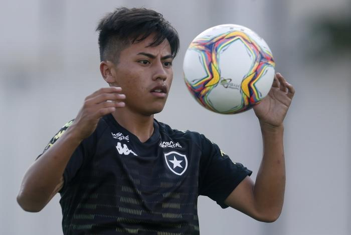 O peruano Lecaros é um dos atacantes do Botafogo para 2020
