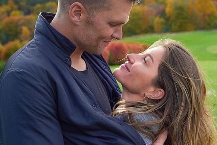 Gisele Bündchen com o marido jogador de futebol americano Tom Brady