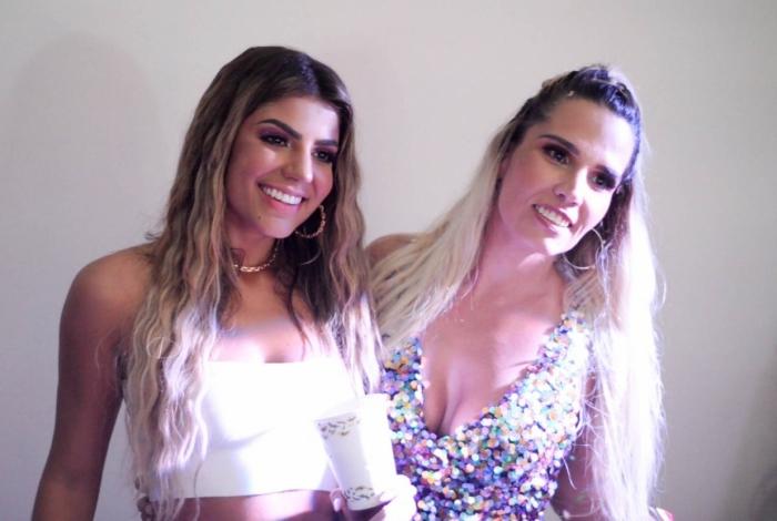Hariany e a DJ da festa Taty Zatto