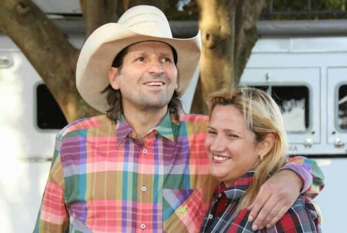 Waldemar Ruy dos Santos e a mulher, Sandra Santos