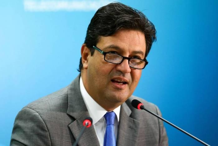 Ministro de Estado da Saúde, Henrique Mandetta, durante cerimônia de lançamento da Câmara da Saúde 4.0