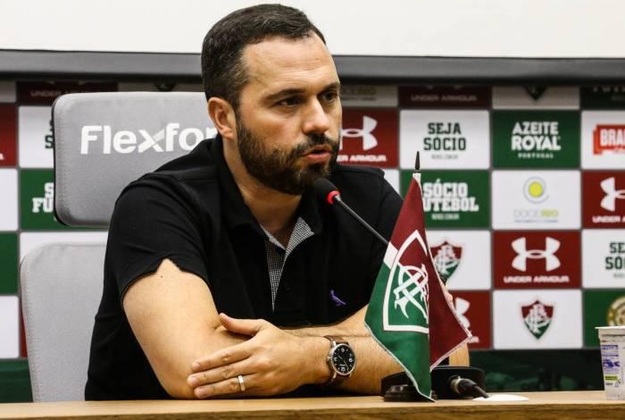 O presidente Mário Bittencourt