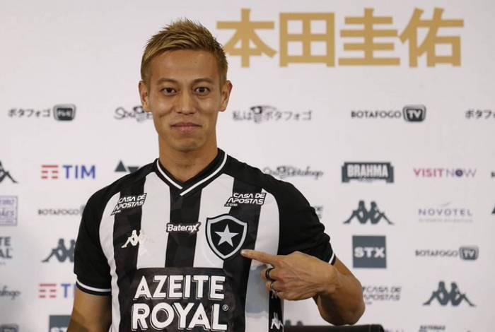 Honda foi apresentado pelo Botafogo na manhã deste sábado