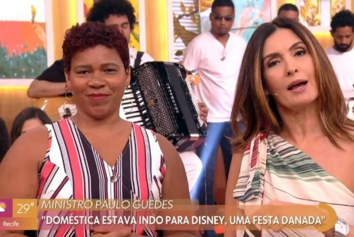 Fátima Bernardes entrevista empregada doméstica, que rebate fala de Guedes