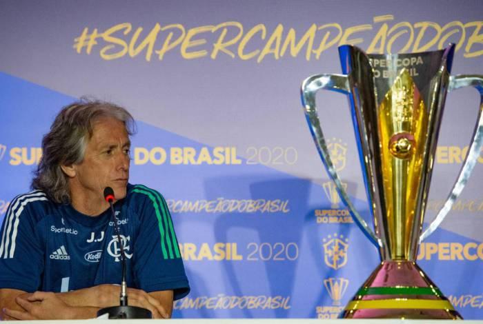 Coletiva Jorge Jesus para final da Supercopa do Brasil Brasília DF - 15-02-2020