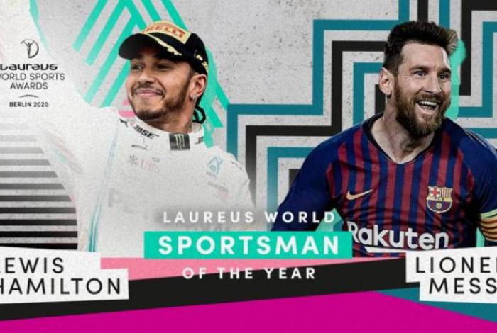 Lewis Hamilton e Lionel Messi