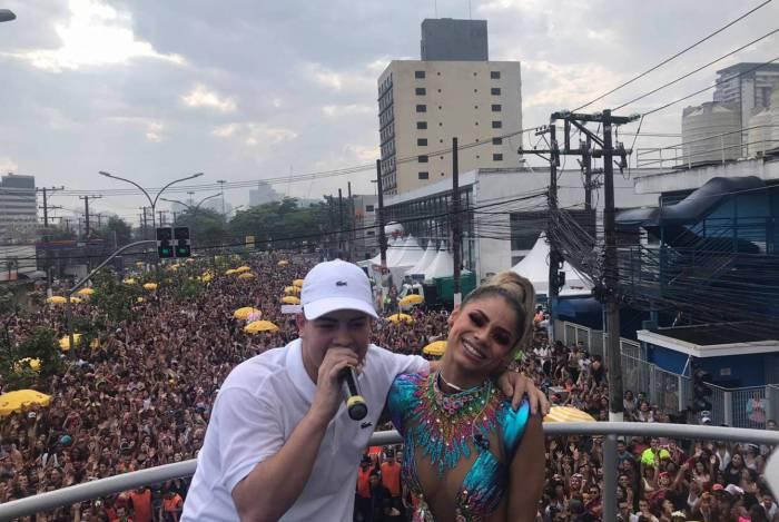 Bloco agitou a capital paulistana