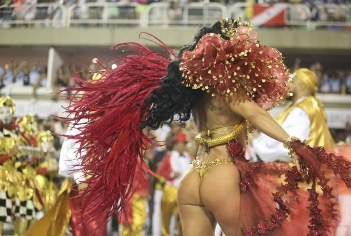 Carnaval 2020 - Desfile da Escola de Samba do Grupo Especial. Na foto Viviane Araujo. bunda Foto: Daniel Castelo Branco/Agência O Dia
