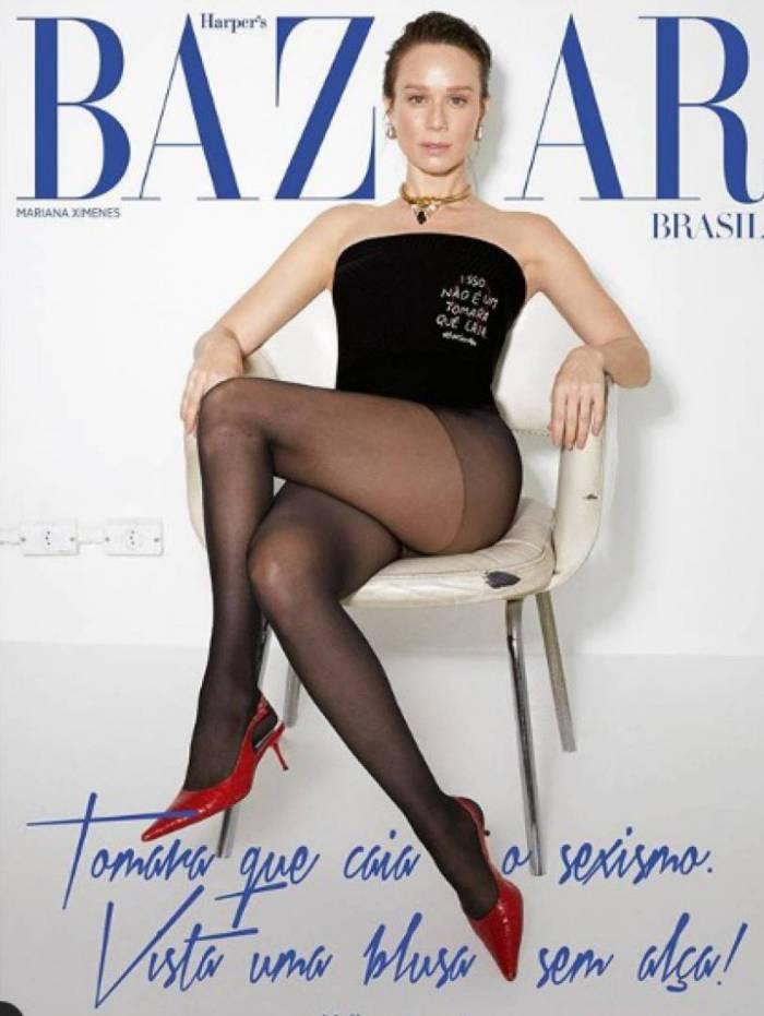 Mariana Ximenes é capa da Haper's Bazaar de março