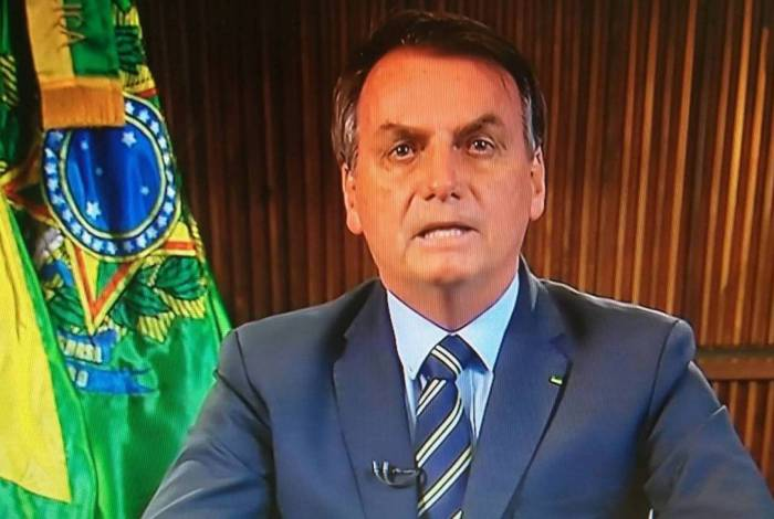 Bolsonaro durante pronunciamento nesta quinta-feira