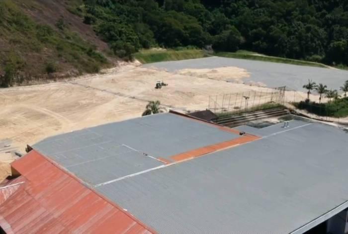 O novo CT do Botafogo está em fase de terrplanagem