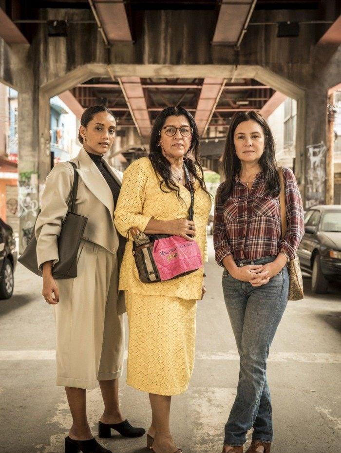 Vitoria (Taís Araujo), Lurdes (Regina Casé) e Thelma (Adriana Esteves) - Amor de Mãe