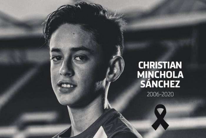 O Atlético de Madrid não revelou a causa da morte de Christian Michola, de 14 anos