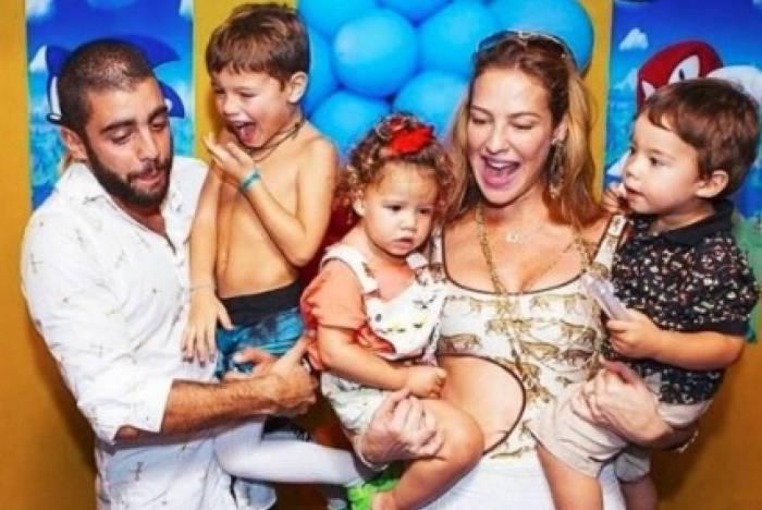 Luana Piovani, Pedro Scooby e  os fihos do ex-casal