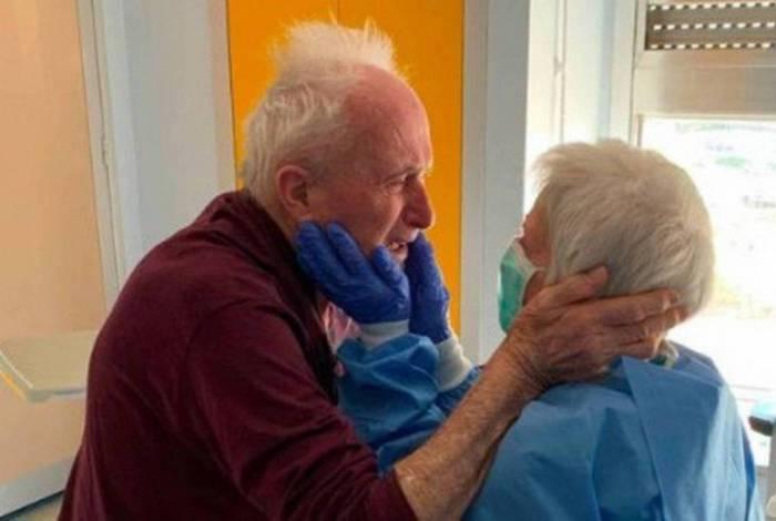 Giorgio e Rosa venceram juntos o novo coronavírus