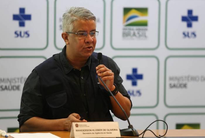 O secretário de Vigilância em Saúde, Wanderson de Oliveira, pediu demissão