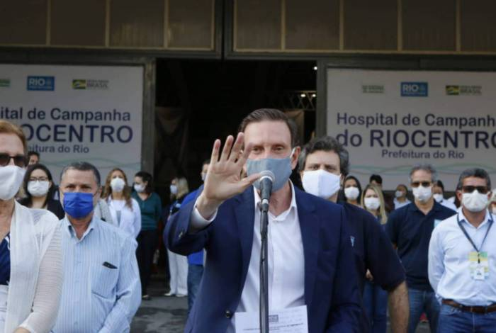 Prefeito Marcelo Crivella inaugura Hospital de Campanha do Riocentro