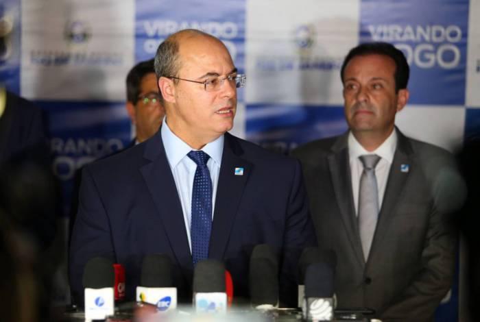 Wilson Witzel com o secretário da Casa Civil, André Moura
