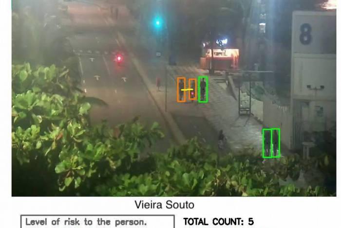 Câmeras identificam possíveis aglomerações
