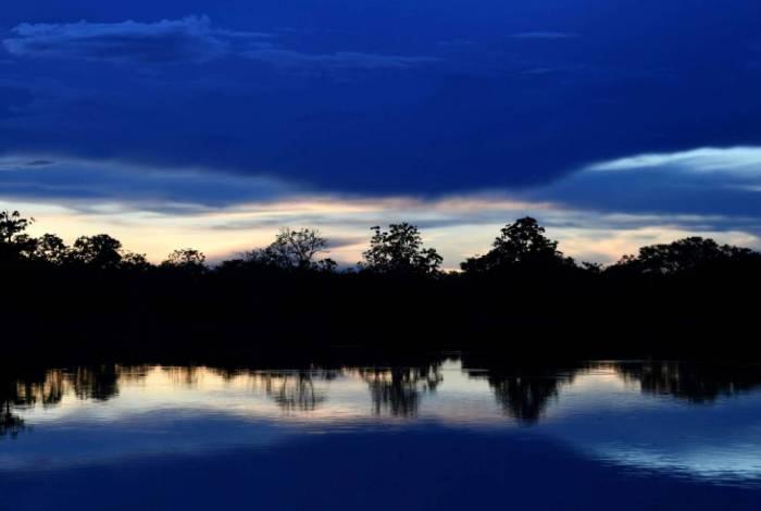 Rio Mamiraua, na Reserva amazônica homônima, em imagem de 24 de abril de 2019
