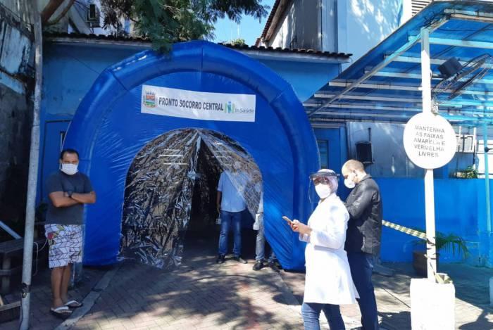 Túnel de desinfecção em São Gonçalo