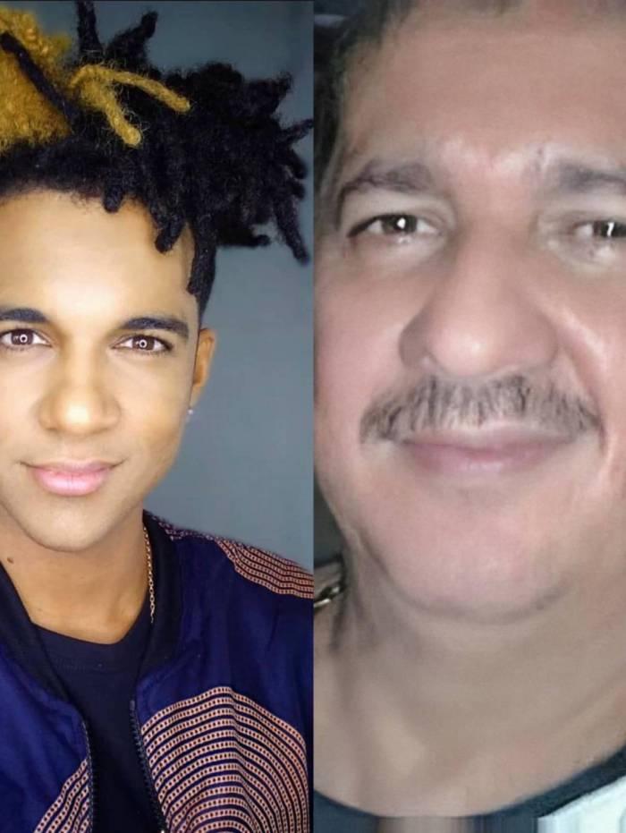 D'Black e o tio Alexandre Braga