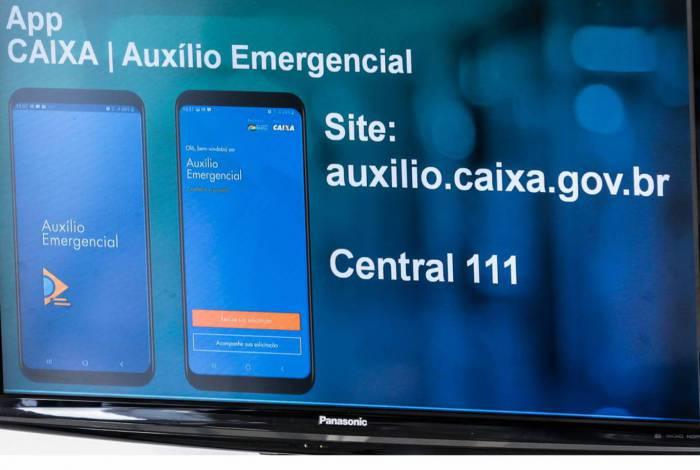 Aplicativo da Caixa para auxílio emergencial
