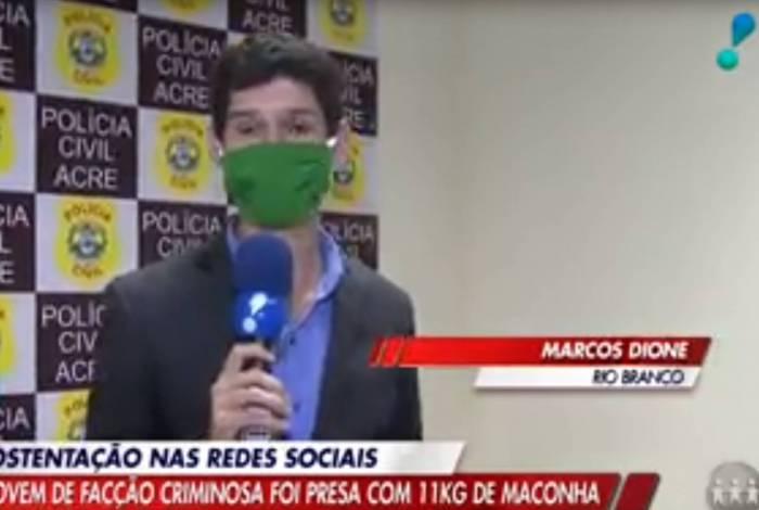 Marcos Dione, repórter da Rede TV