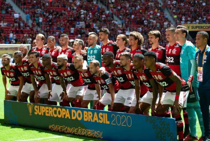 Elenco do Flamengo campeão da Supercopa do Brasil 2020