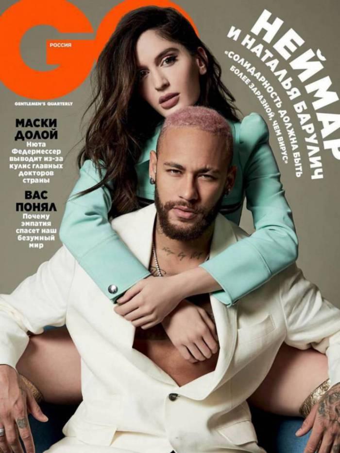 Neymar é capa de revista na Rússia ao lado de Natalia Barulích
