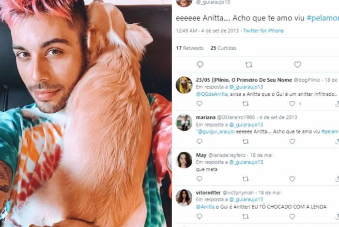 Gui Araújo já tinha uma quedinha por Anitta desde 2013