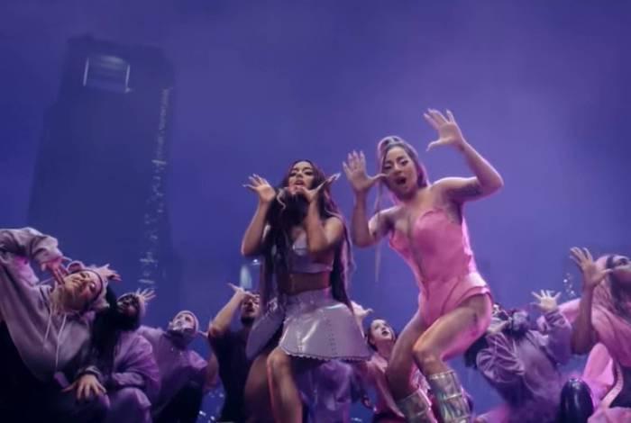 Música de Lady Gaga com Ariana Grande bate recorde em app de música