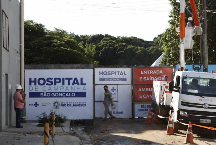 Hospital de campanha de São Gonçalo ainda passa por obras