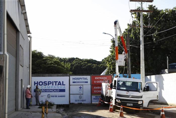 ...até a inauguração do Hospital de Campanha de São Gonçalo