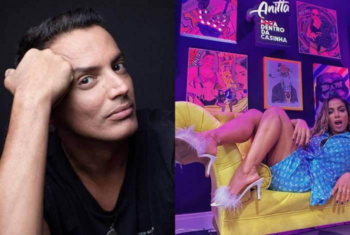 Anitta debocha de Leo Dias ao vivo